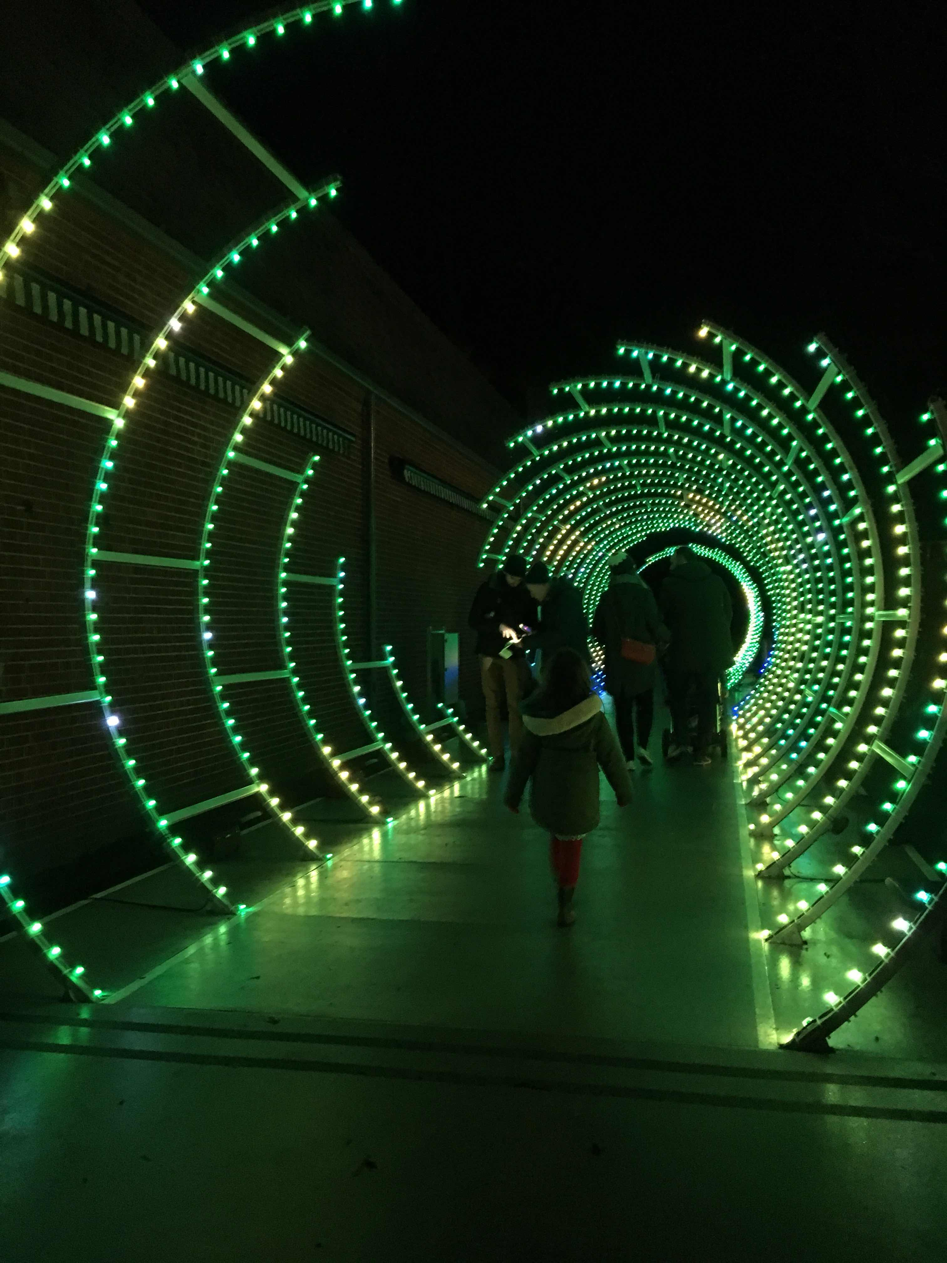 Tunnel of light at Waddesdon Manor