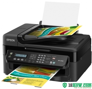 How to reset flashing lights for Epson WorkForce WF-2530 printer
