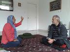 Fanny Ochoa y Mansur Escudero en el Centro Cultural Islámico de Colombia