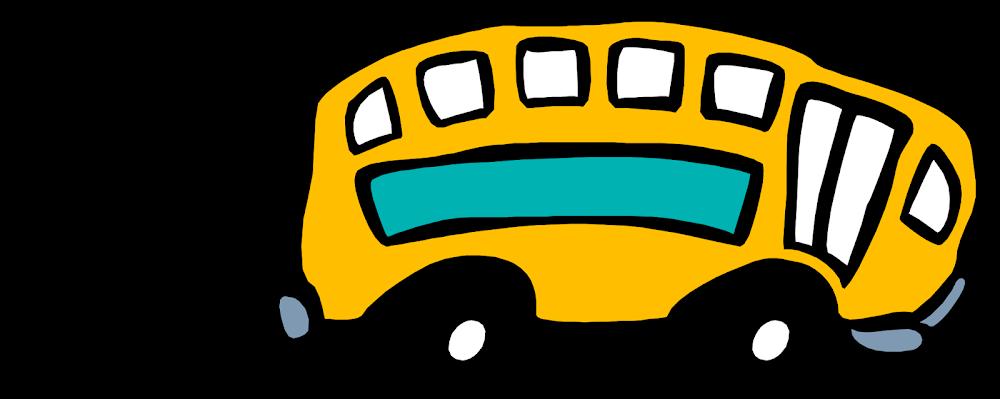 Днем работника, картинка автобус с анимацией