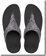 Fitflop Glitterball Pewter toe post sandals