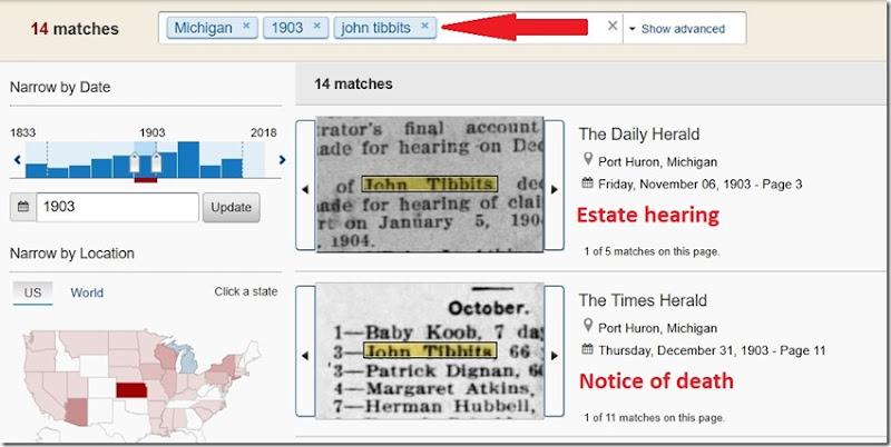 John R Tibbits search results
