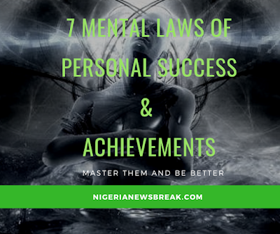 Mental laws of personal success