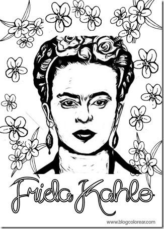 Colorear Dibujos Infantiles Frida Kahlo Colorear