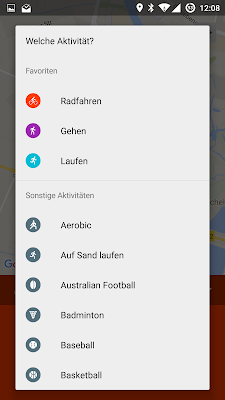 Screenshot: Google Fit