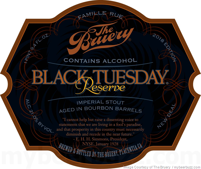 The Bruery - Black Tuesday Reserve 2018 Edition