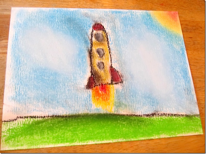soft pastels rocket