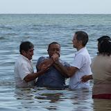 Baptizing Juan.