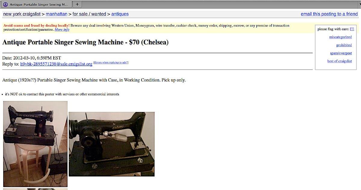 craigslist sewing machine