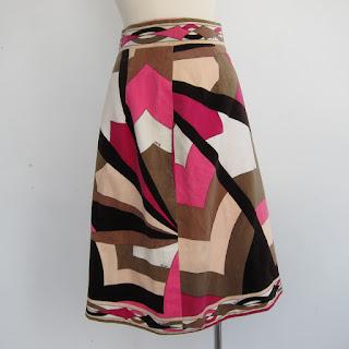 Emilio Pucci Velvet Pencil Skirt