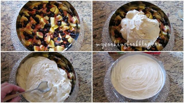 Кокосова торта със смокини и боровинки