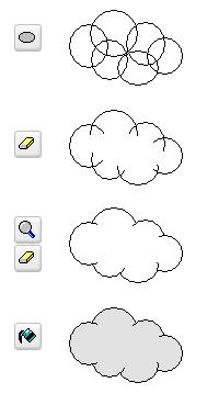 Cómo dibujar nubes