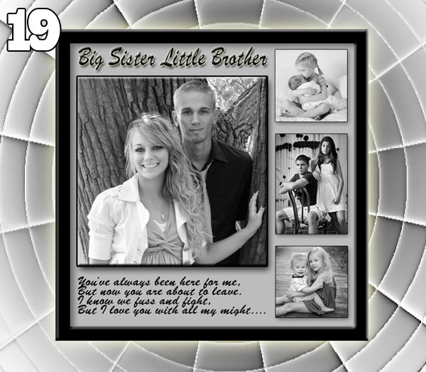 Photo Collage For Sisters 19th Birthday Good Gift Ideas 16 17 18