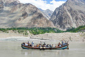 Boating in Attabad lake, Gilgit Baltistan