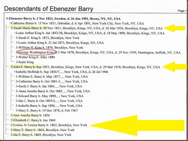 George King to Ebenezer