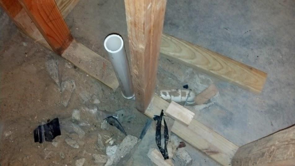 Identifying Basement Bathroom Rough In Fixtures Plumbing