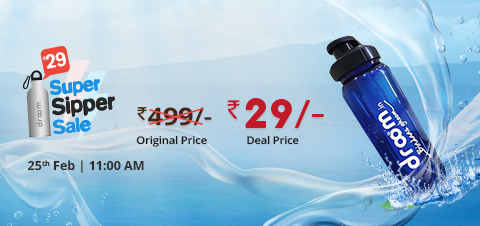 (Sale on 25th Feb) Droom Super Sipper Sale : Get Sipper Water Bottle at Just Rs.29 Only