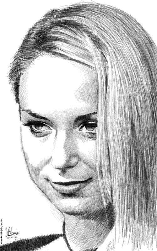 Pencil sketch of Sabine Lisicki, using Krita 2.7 Alpha.