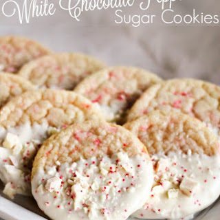 Shortcut White Chocolate Peppermint Sugar Cookies