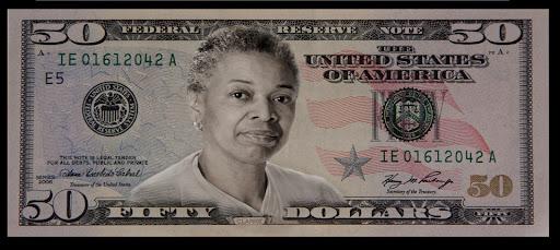 20 dollar bill back. 5 dollar bill back. 20 dollar