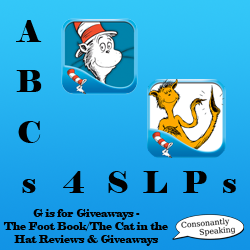 ABCs 4 SLPs: G is for Giveaways - The Foot Book & The Cat in the Hat Reviews and Giveaways image