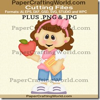 qtp school girl w apple ppr cfb 450