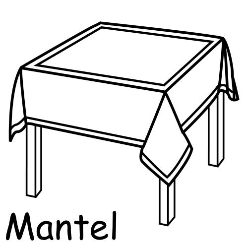 Mesa en dibujo para pintar - Imagui