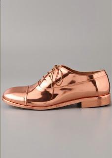 zapatos oxford en cobre