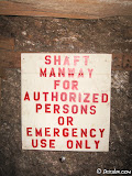 More modern mines are littered with signage to meet MSHA regulations.
