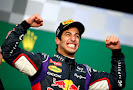 Daniel Ricciardo on the podium
