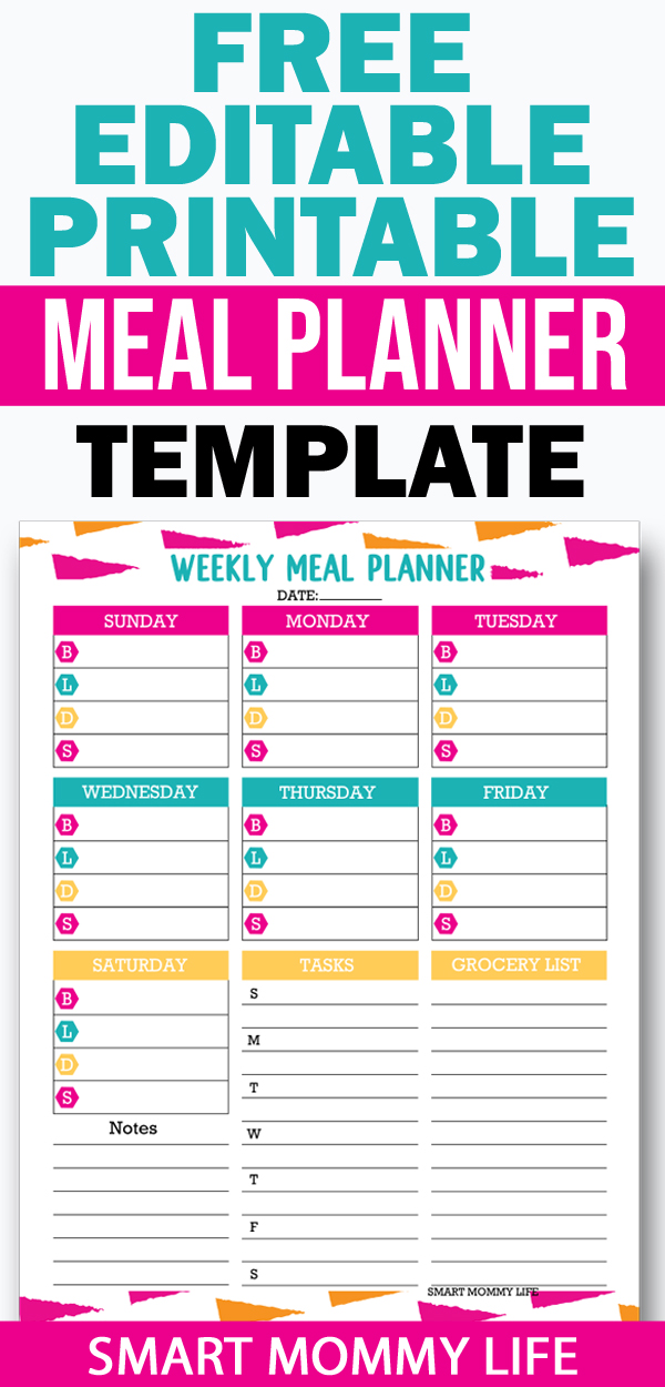 Another free editable planner