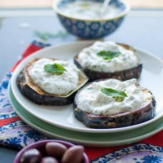 Fried Eggplant With Tzatziki.