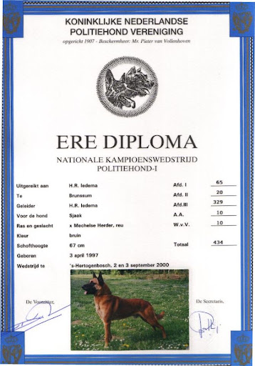 Ere Diploma Sjaak