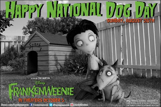 Happy National Dog Day Frankenweenie