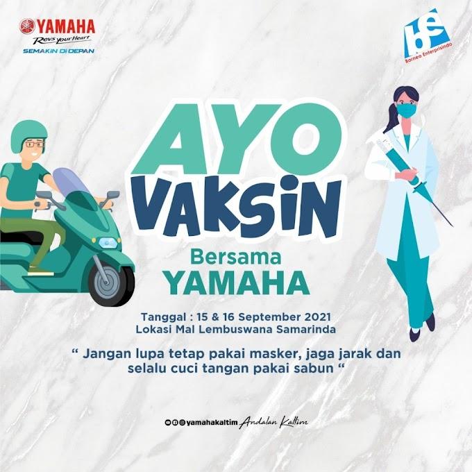 Besok, Vaksin Massal di Mal Lembuswana Bersama Yamaha