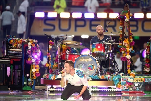 Chris Martin Pepsi Super Bowl 50 Halftime