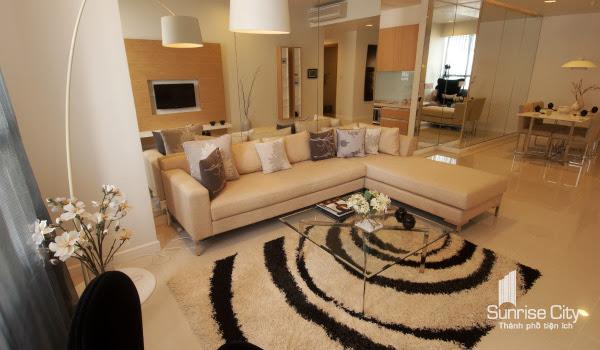 Phòng khách căn hộ Sunrise City
