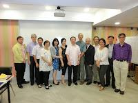 2014年10月8日,冼楝榮在培正同學會月會專題演講,十多位同學捧場,阿冼好感動呢!