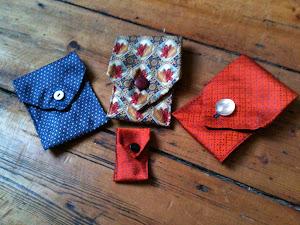 Tie pouches