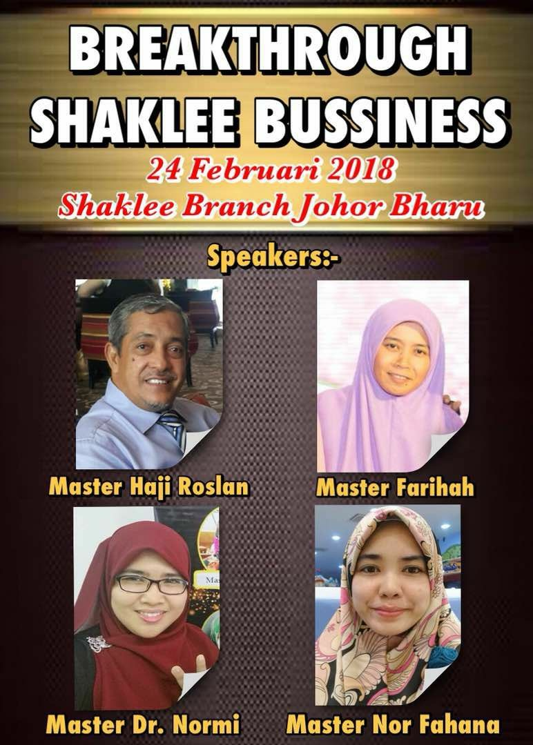 Aktiviti Bisnes - Menuntut Ilmu SMS Di Cawangan Shaklee JB