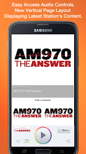 AM 970 The Answer - screenshot thumbnail