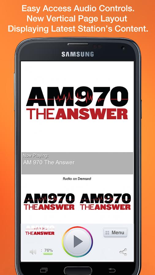 AM 970 The Answer - screenshot