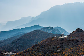 Beautiful foggy road to Gorakh Hills.