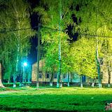 Ночной Суворов. Вид на родильное отделение