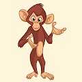 Cartoon Funny Monkey Funny Free Download Vector CDR, AI, EPS and PNG Formats