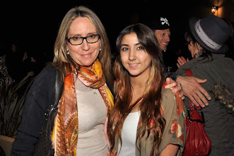 Photo: Laura with her lovely Kylie at the Bones Brigade movie!