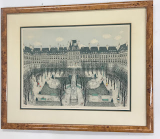 """Cuca Romley's """"Place de Vosges"""" Lithograph"""