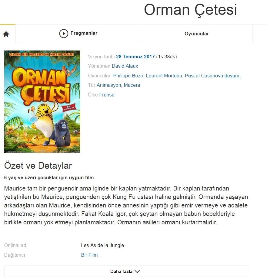 Orman Çetesi 2017 - 1080p 720p 480p - Türkçe Dublaj Tek Link indir
