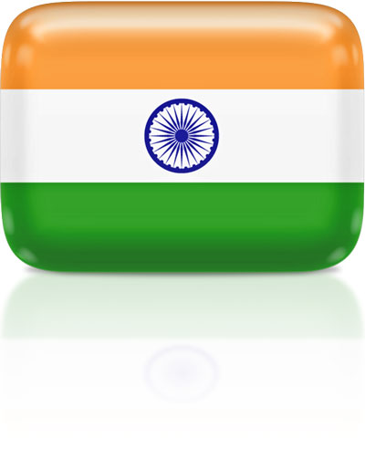 Indian flag clipart rectangular