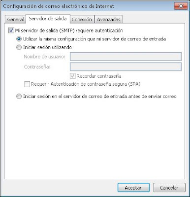 Solución al error 530 Authentication required to send mail from xxx